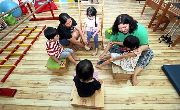 Group classes give Cerebral Palsy children the encouragement they need