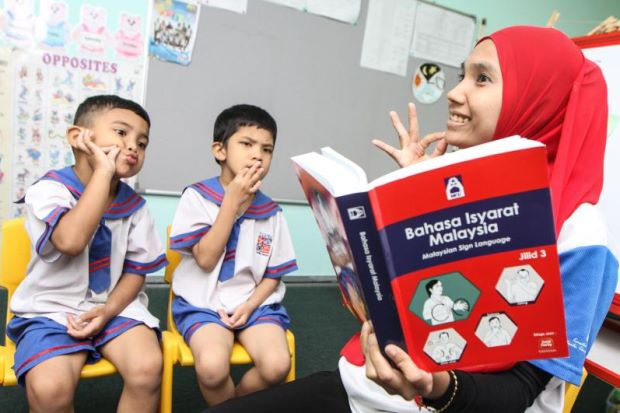 'Let deaf pupils use mother tongue and they'll do well'