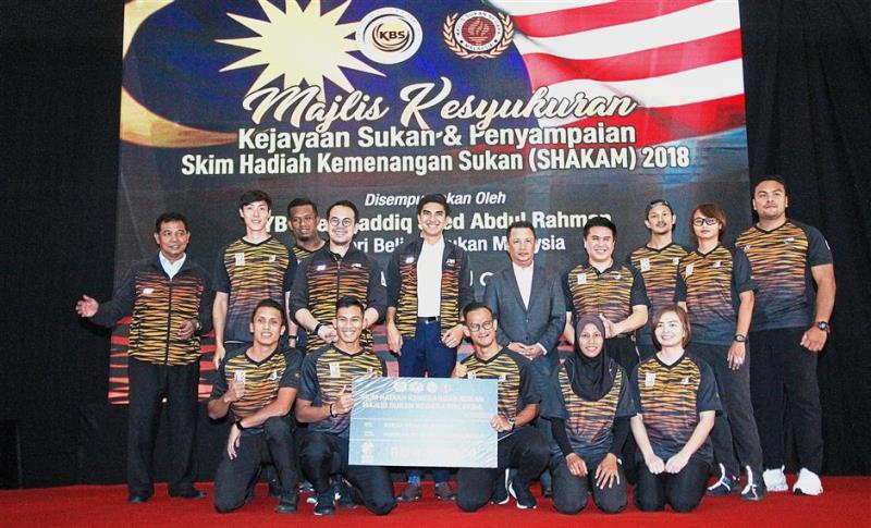 Winning athletes receive RM6.2mil under national sports incentive scheme