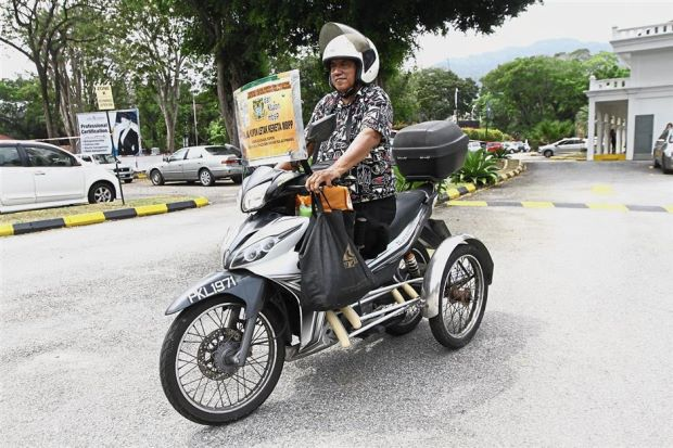 Disabled septuagenarian stays busy and mobile