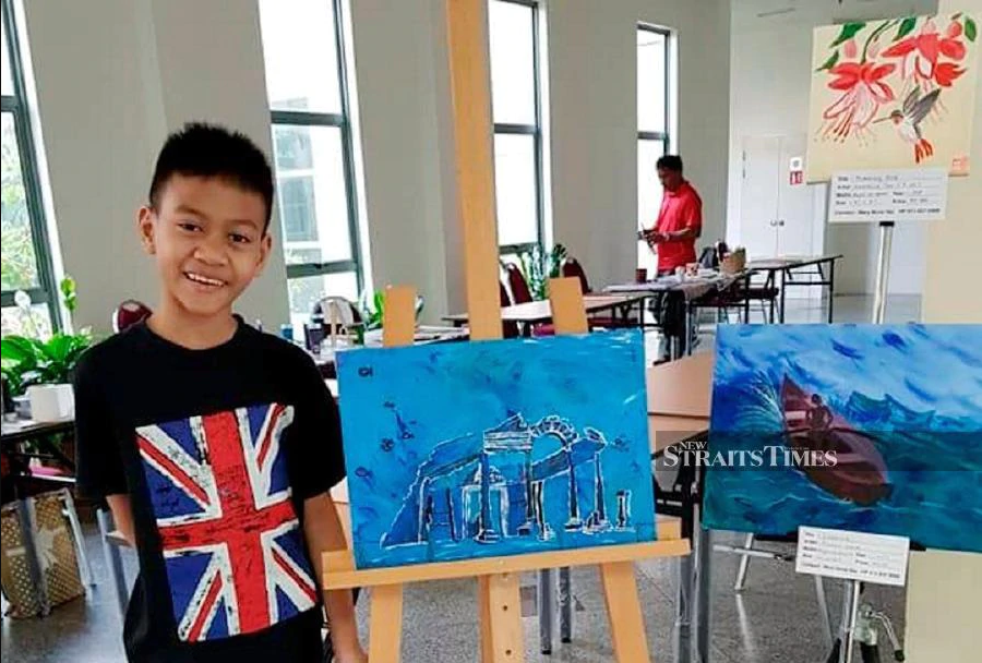 Boy with learning disability uncovers drawing talent, sells paintings for a good cause