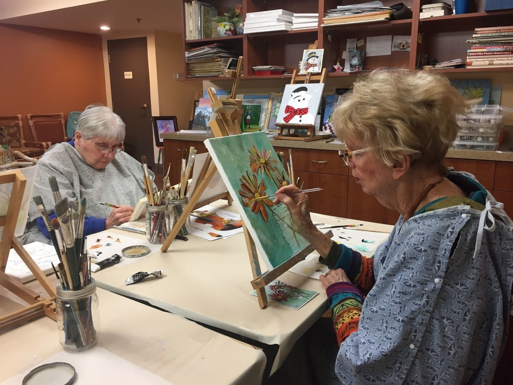 The magic of painting brings these seniors endless joy