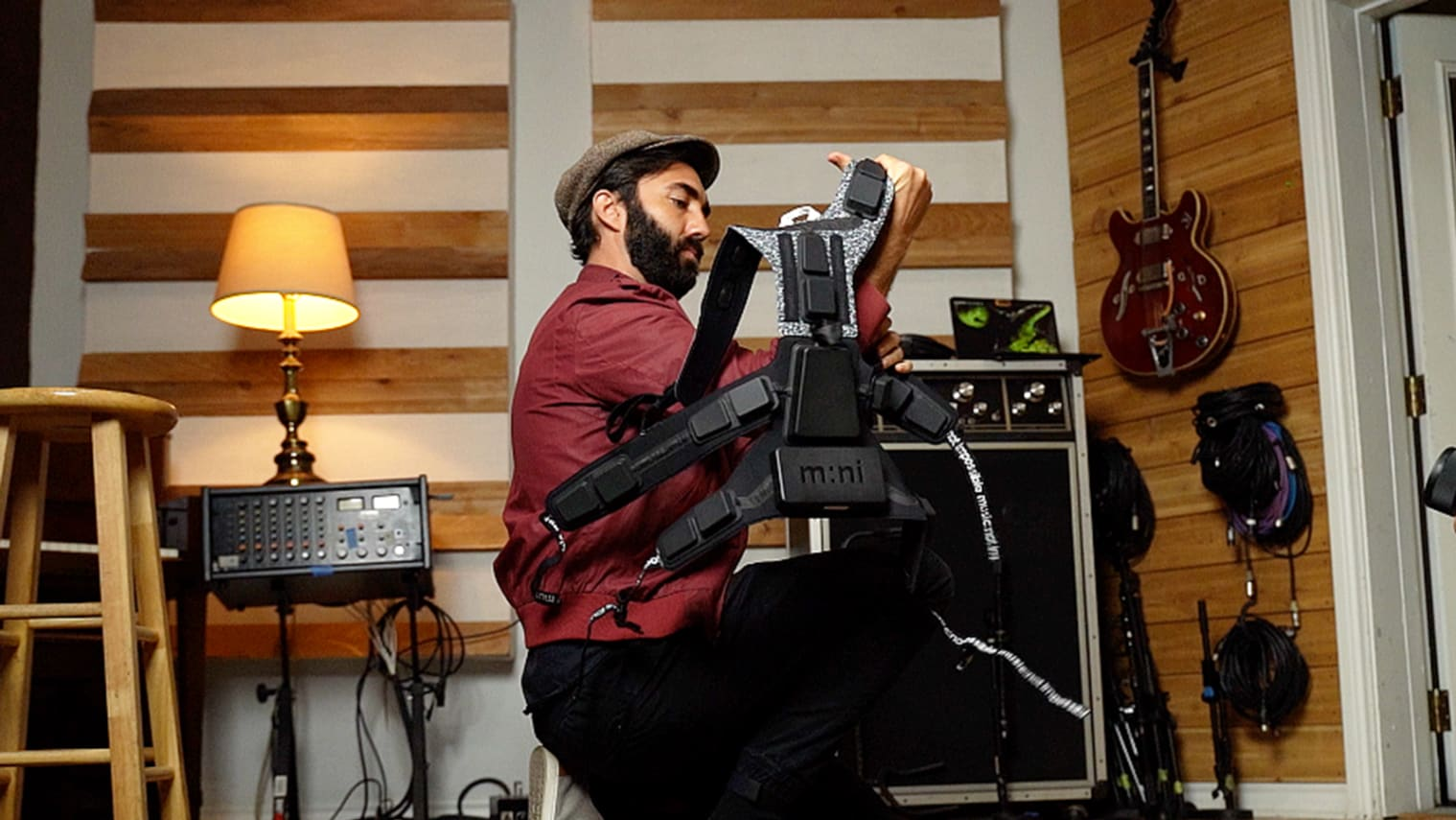 Vibrating suit allows deaf people to 'feel' music